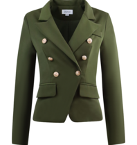 Luscious The Label Luscious the label Celine double-breasted blazer army