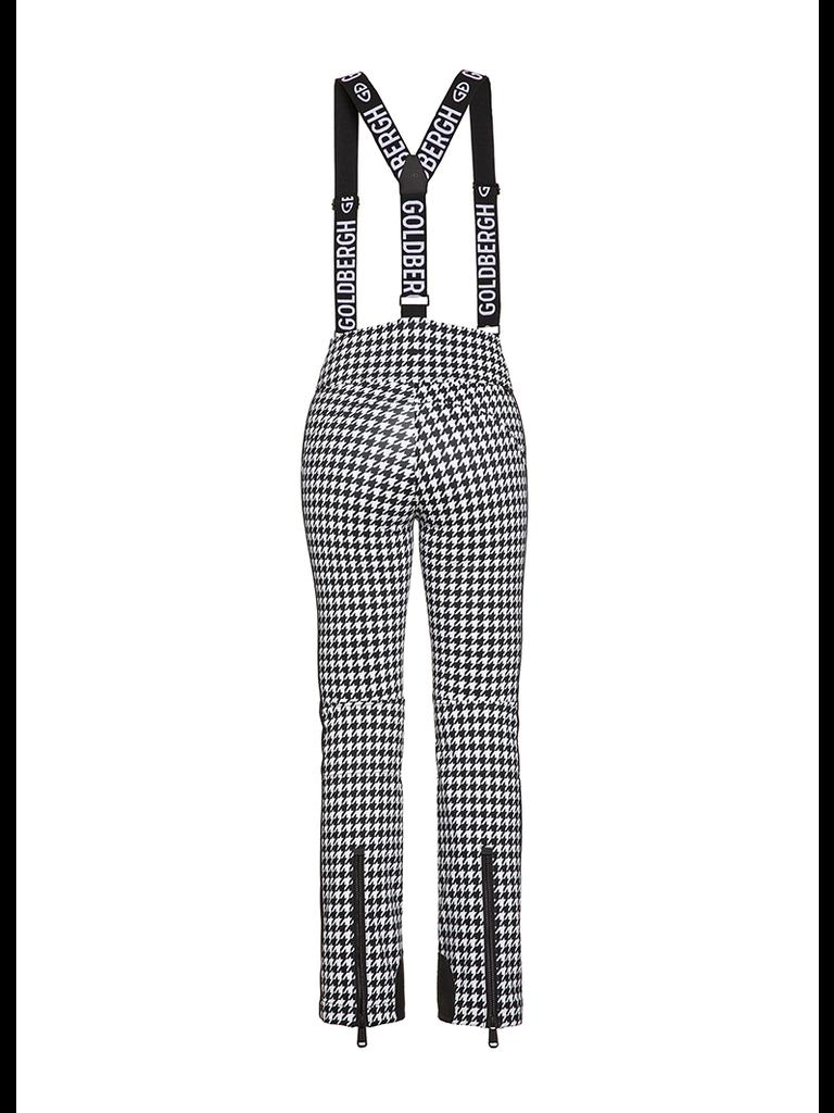 Goldbergh Goldbergh Lily ski pants pied de poule print black and white