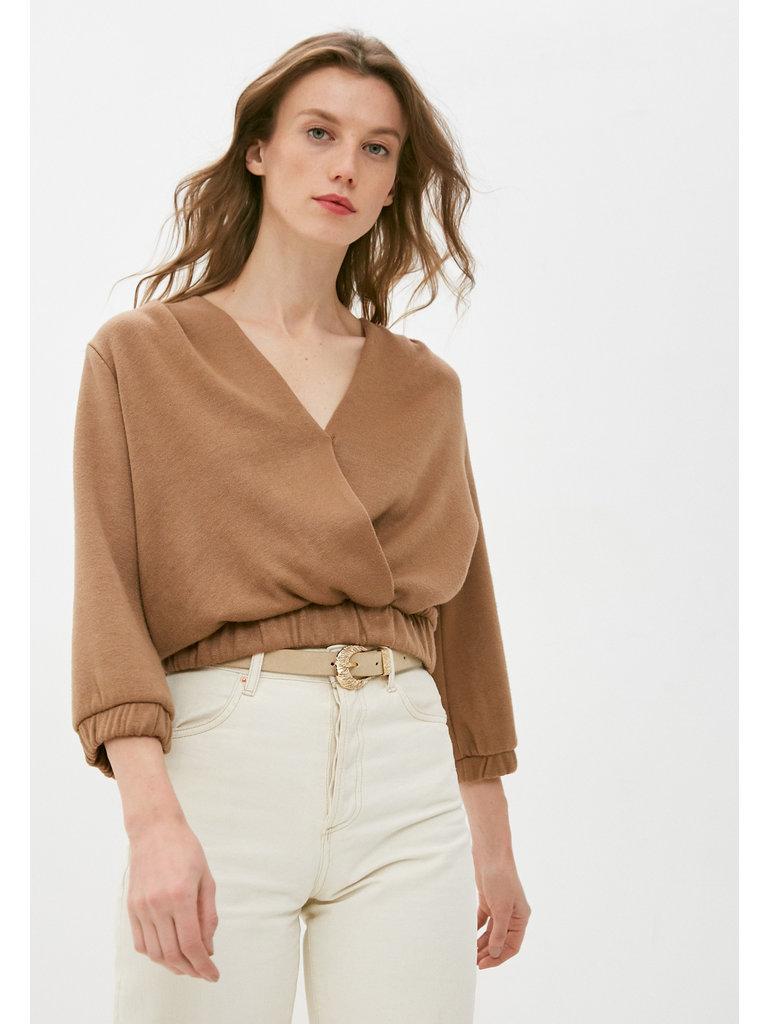Rinascimento Rinascimento crossover sweatshirt beige