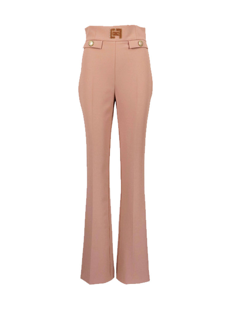 Elisabetta Franchi Elisabetta Franchi pantalon met details roze