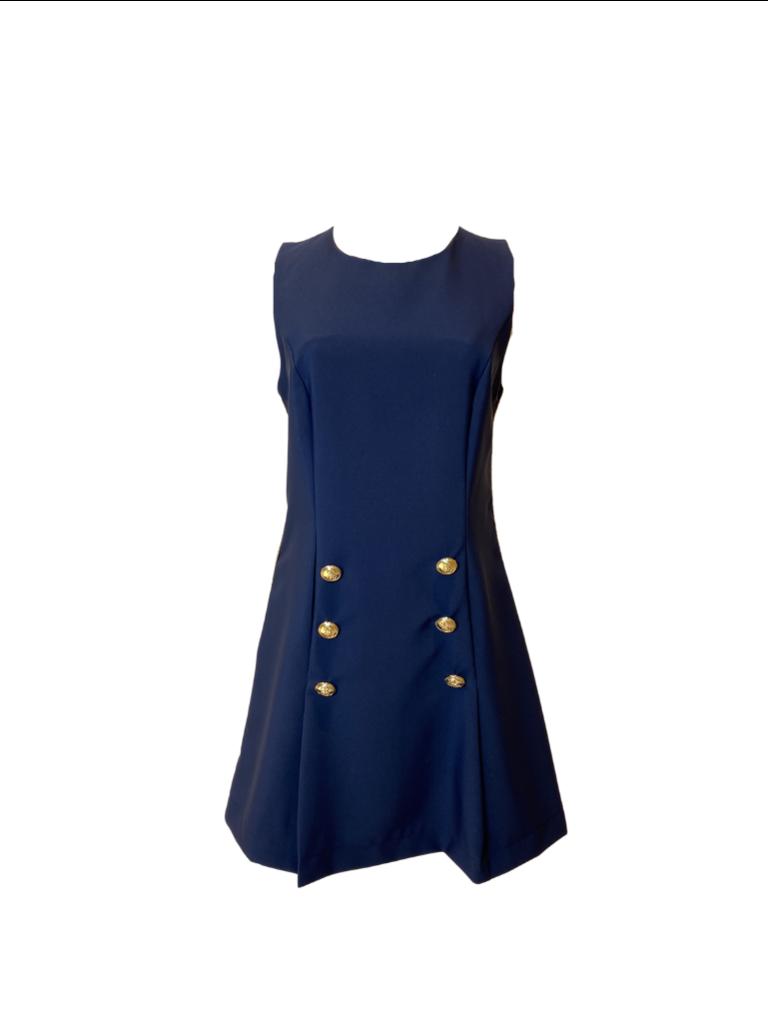 Rinascimento Rinascimento jurk blauwRinascimento jurk met double-breasted knopen blauw