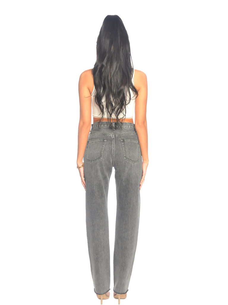 La Sisters LA SISTER Straight Leg Jeans Grey