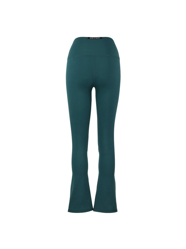 House of Gravity House of Gravity Flared broek emerald green