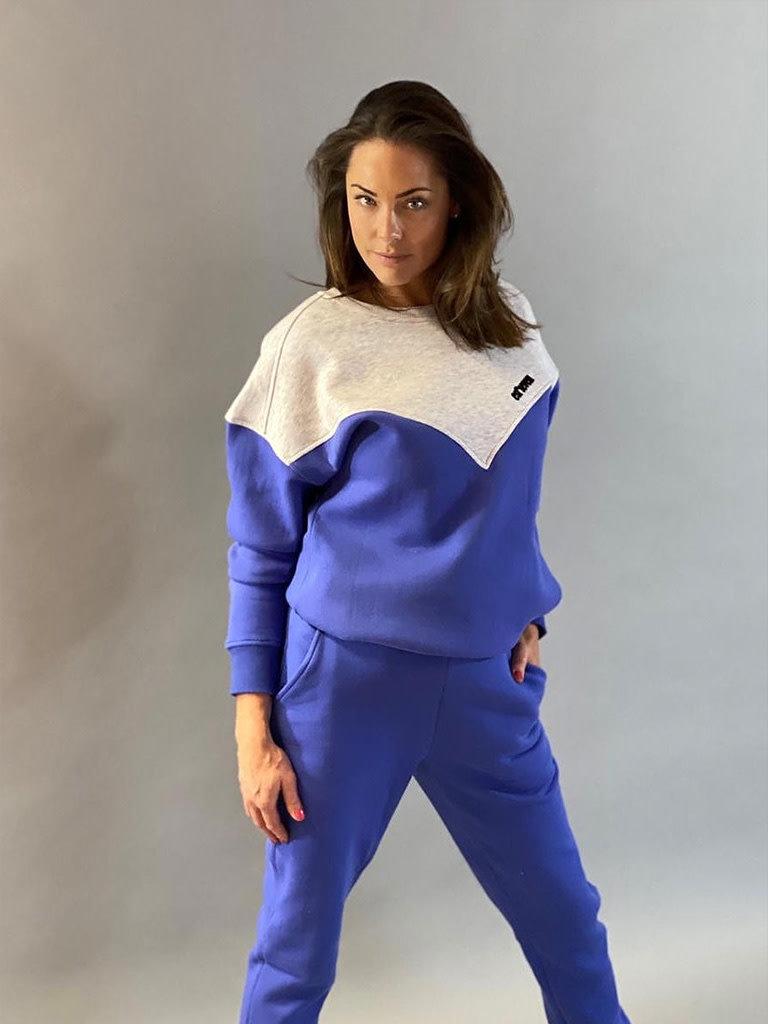 Est'seven Est'Seven Logo sweater baja blue / grey