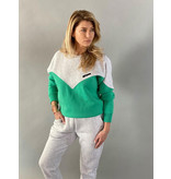 Est'seven Est'Seven  Vetement  sweater kelly green / grey