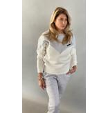 Est'seven Est'Seven Logo sweater off white / grey