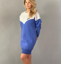 Est'seven Est'Seven Logo dress baja blue / grey