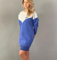 Est'seven Est'Sevents Vetements Logo dress baja blue / grey