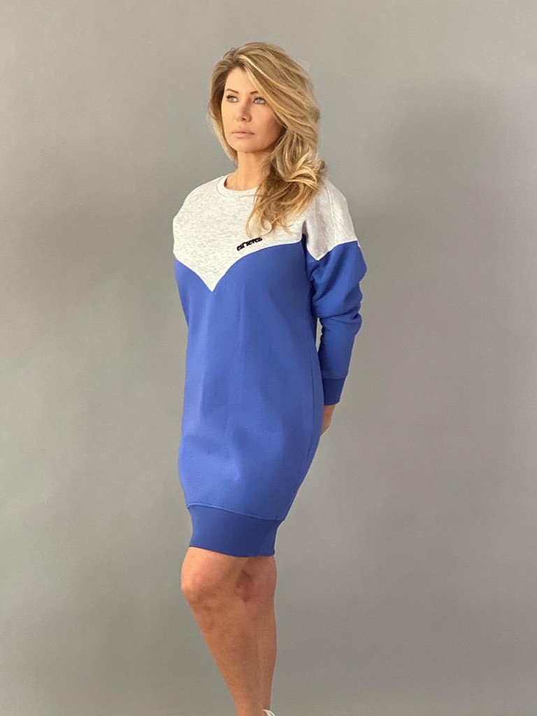 Est'seven Est'Seven Logo dress baja blue / grey