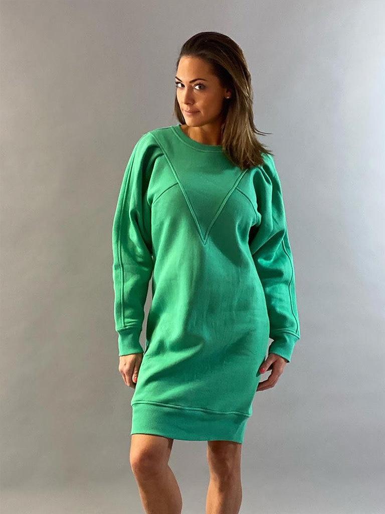 Est'seven Est'Seven Vetements V dress kelly green