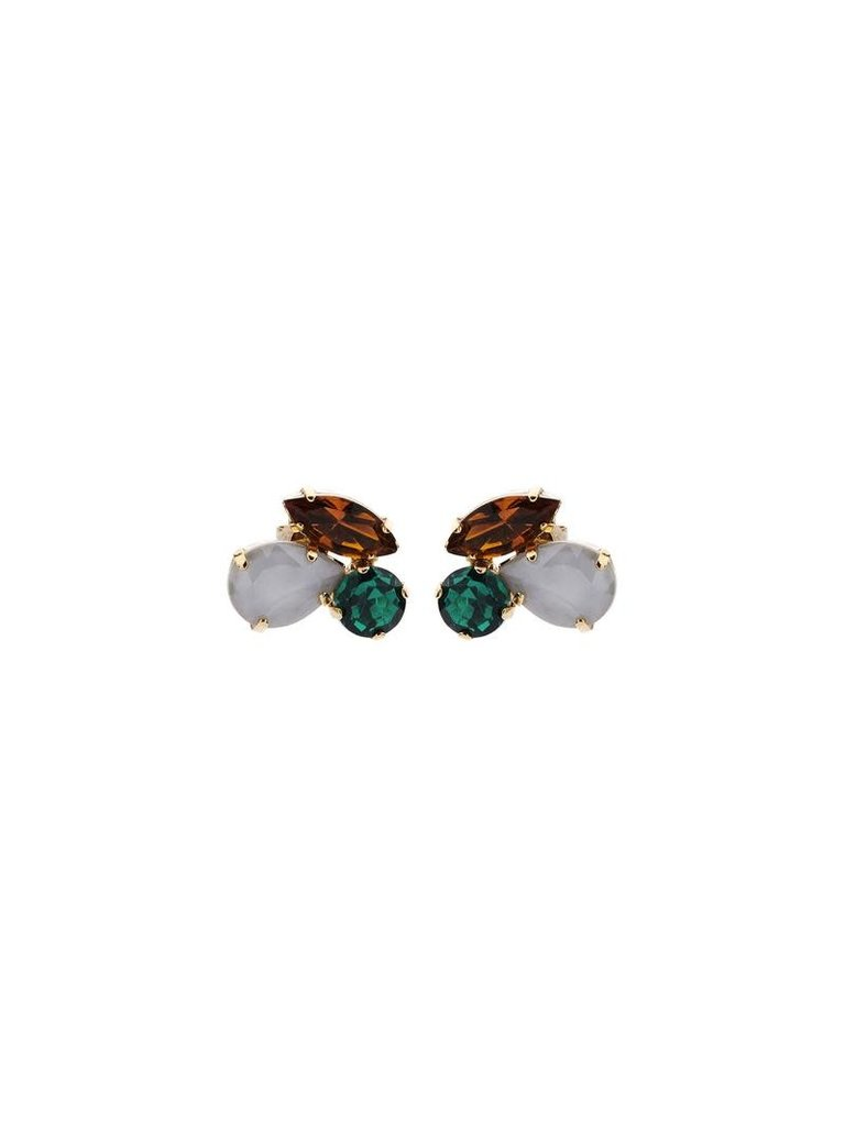 Souvenirs de Pomme Souvenirs De Pomme Cleo shortie groen mix oorbellen