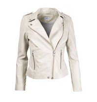 Est'seven Est'Seven Moter leren jacket off-white