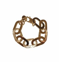 Souvenirs de Pomme Souvenirs De Pomme Amara statement gold chain armband
