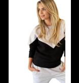 Est'seven Est'Seven Vetement  sweater black / grey