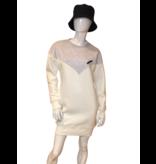 Est'seven Est'Seven Vetements V dress off white / grey