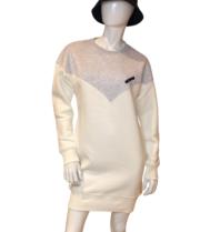 Est'seven Est'Seven Vetement  Logo dress off white / grey