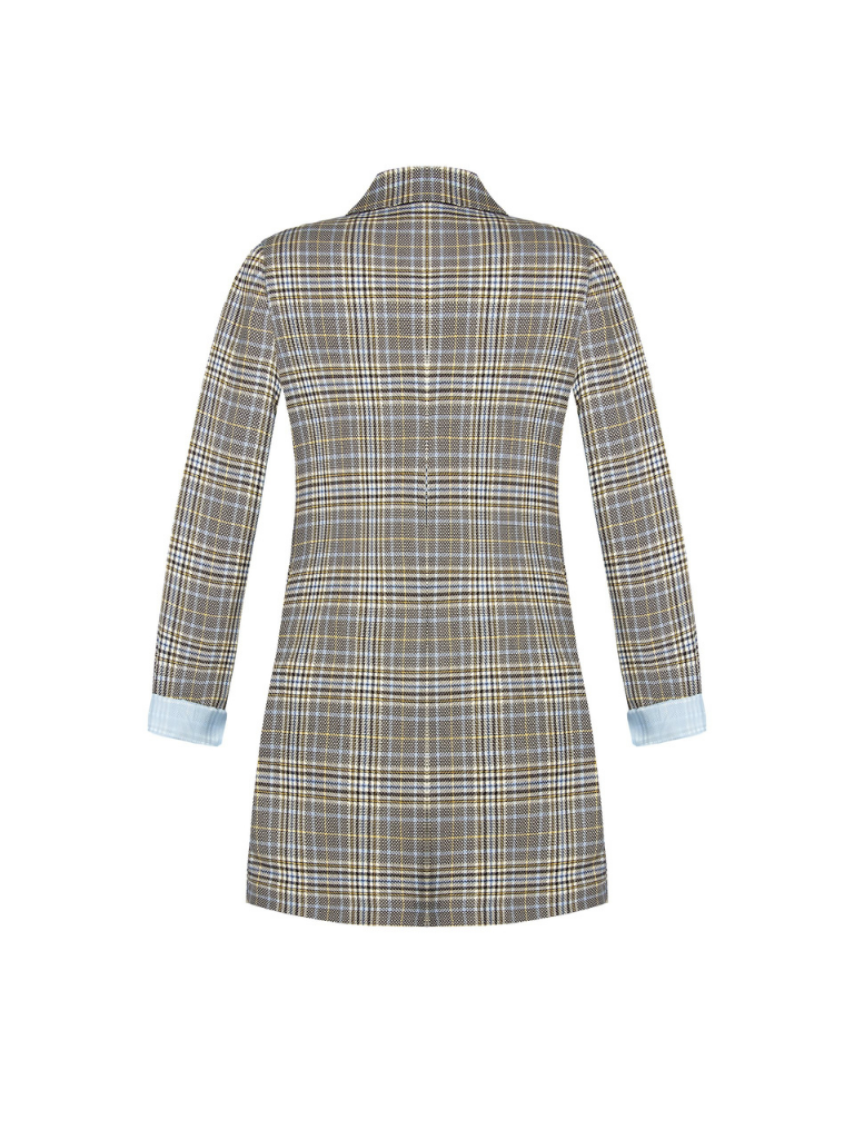 Rinascimento Rinascimento double-breasted blazer met ruit blauw