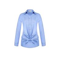 Rinascimento Rinascimento blouse met knoopdetails lichtblauw