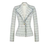 Rinascimento Rinascimento tweed blazer lichtblauw