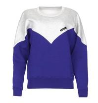 Est'seven Est'Seven Vetements Logo sweater baja blue / grey