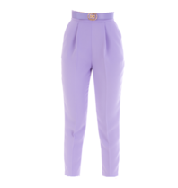 Elisabetta Franchi Elisabetta Franchi skinny pantalon met ceintuur paars