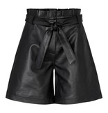 Co'couture Co'couture Phoebe leather shorts zwart