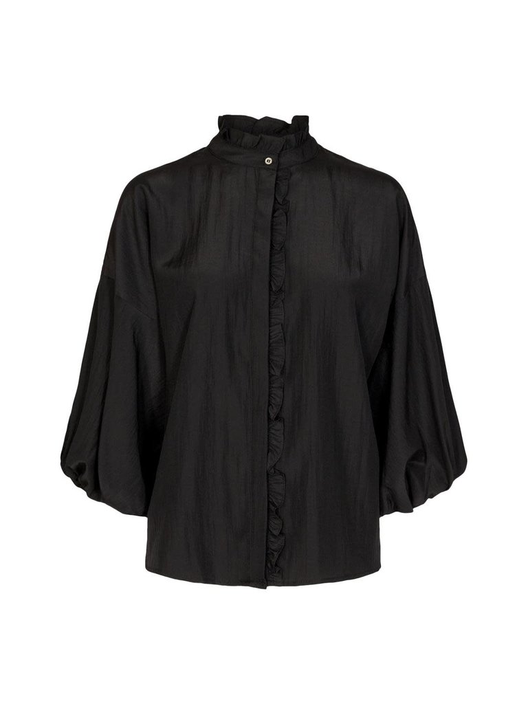 Co'couture Co'couture Keeva frill blouse zwart