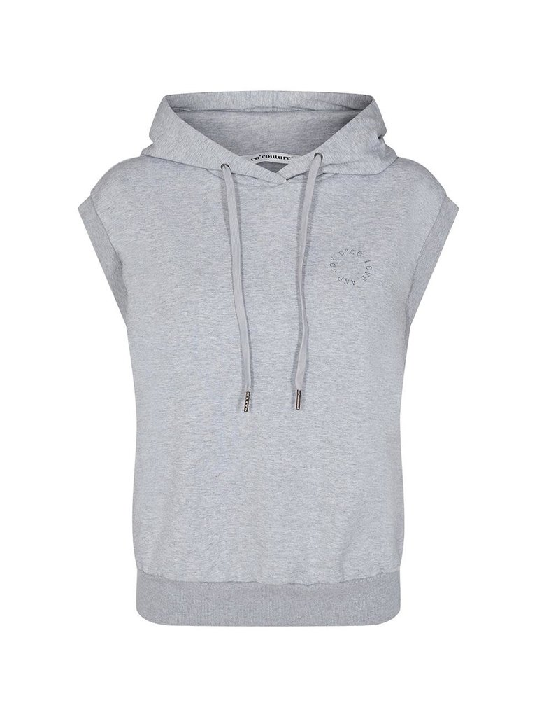 Co'couture Co'couture Rush hoodie vest grijs