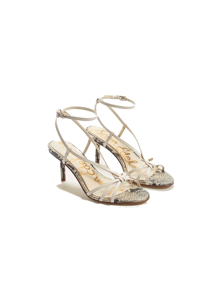 Sam Edelman Sam Edelman Pippa strap hak sandaal met print wit
