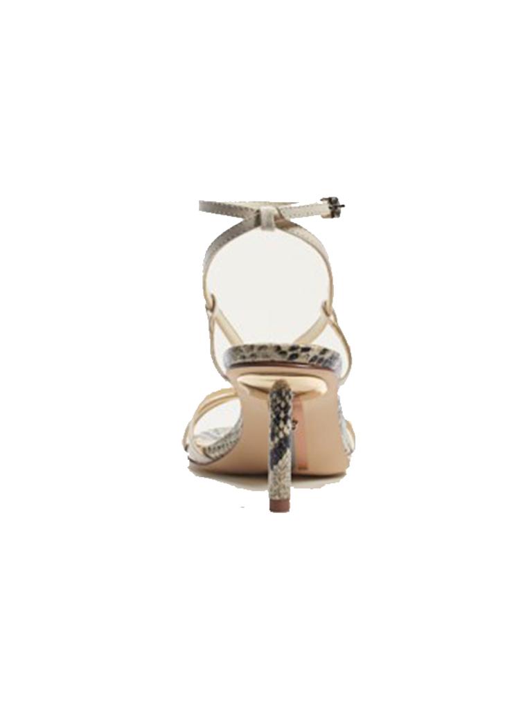 Sam Edelman Sam Edelman Pippa strap heel sandal with print white