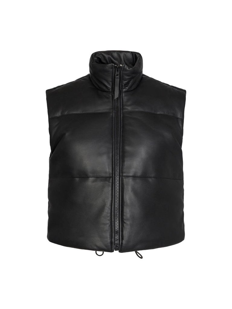 Co'couture Co'couture Mountain leather vest zwart