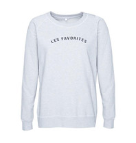 Les Favorites Les Favorites Posy sweater grijs