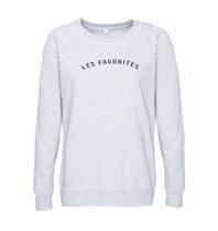 Les Favorites Les Favorites Posy sweater grijs
