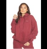 La Sisters LA Sisters Essential hoodie burgundy