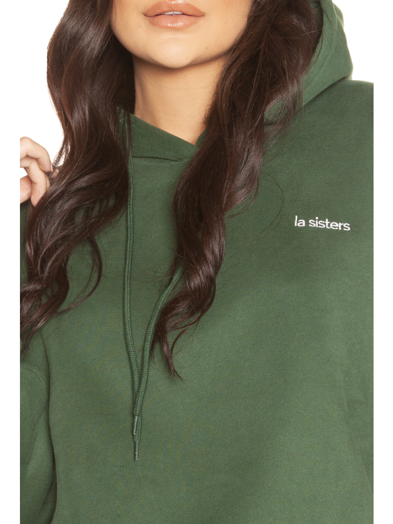 La Sisters LA Sister Essential hoodie groen