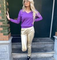 Les Favorites Les Favorites Day v-neck sweater paars