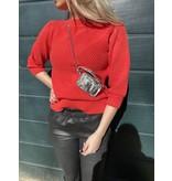 Les Favorites Les Favorites Scottie sweater coral