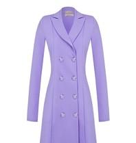 Rinascimento Rinascimento blazerjurk met double breasted knopen lila