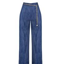 Rinascimento Rinascimento denim pantalon met ceintuur