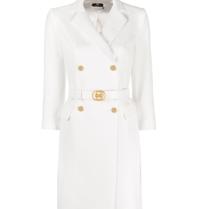 Elisabetta Franchi Elisabetta Franchi blazerjurk met ceintuur wit