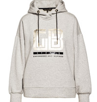 Goldbergh Goldbergh Fiza longsleeve hooded top grijs