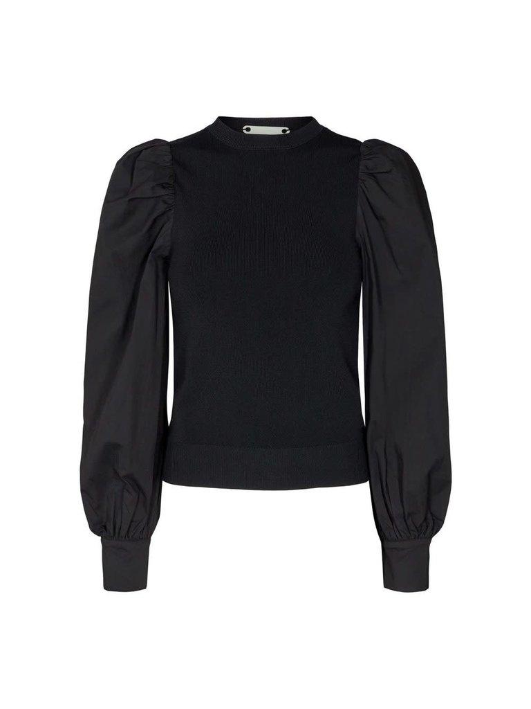 Co'couture Co'couture Mercia mix blouse zwart