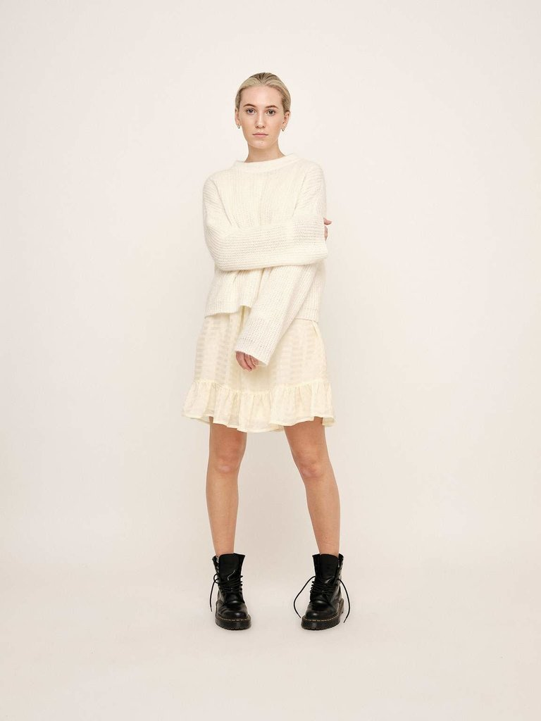 Untold Stories Untold Stories Florie Rollneck sweater off-white
