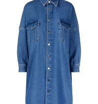 Untold Stories Untold Stories Lyla oversized shirt denim blauw