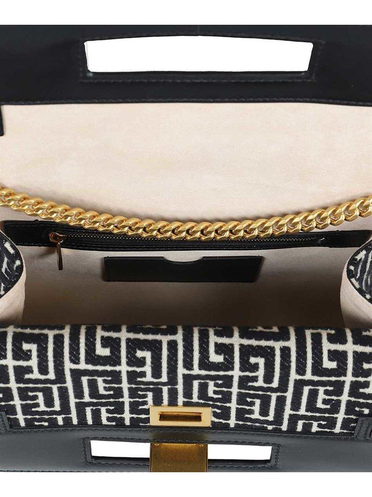 Balmain Balmain print tas met chain zwart