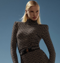 Balmain Balmain print pullover met col zwart