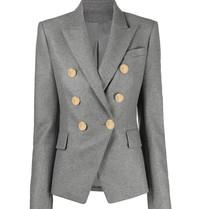 Balmain Balmain double-breasted blazer grijs