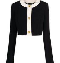 Elisabetta Franchi Elisabetta Franchi cropped blazer met knopen zwart