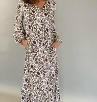 Est'seven Est'seven Paris maxi jurk met bloemenprint multicolour