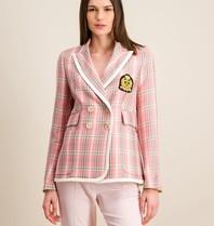 DMN Paris DMN Paris Valeria blazer met tartan print blazer roze